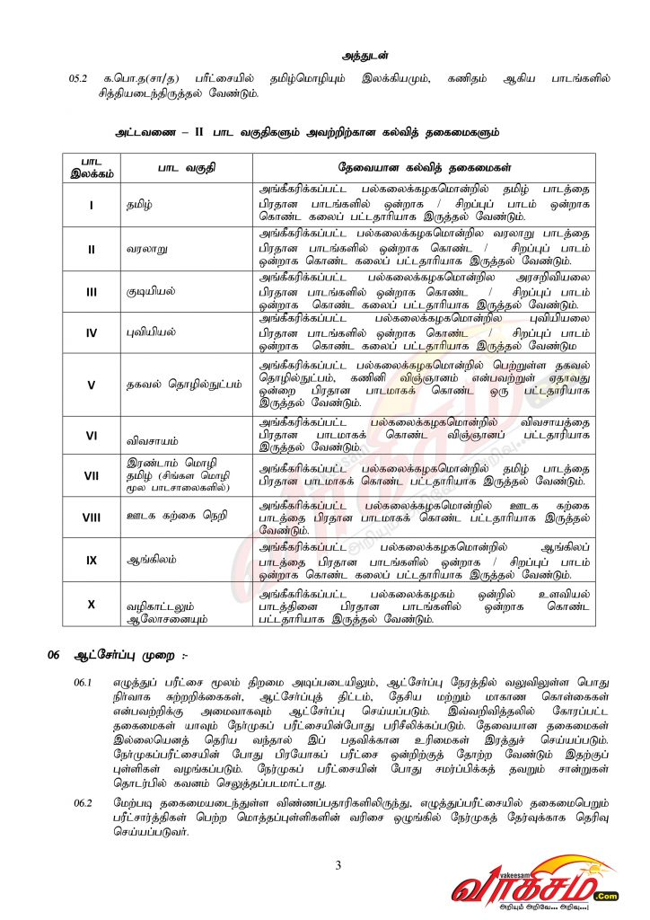 Vakeesam # Teaching Exam - 03