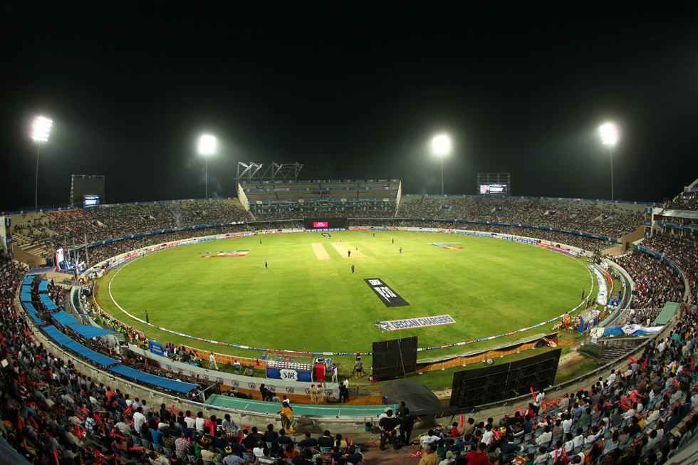GV of the stadium during match 53 of the the Indian Premier League ( IPL) 2012  between The Deccan Chargers and the Kings XI Punjab held at the Rajiv Gandhi Cricket Stadium, Hyderabad on the 8th May 2012..Photo by Ron Gaunt/IPL/SPORTZPICS